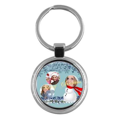 Merry Christmas By M Jan   Key Chain (round)   9snnijaoznkr   Www Artscow Com Front