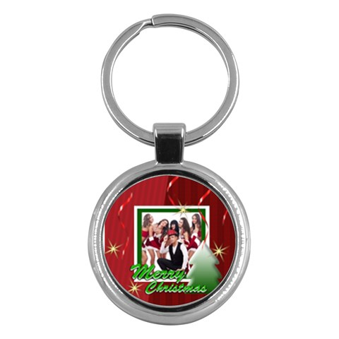 Merry Christmas By Clince   Key Chain (round)   U83s6t50zbbw   Www Artscow Com Front