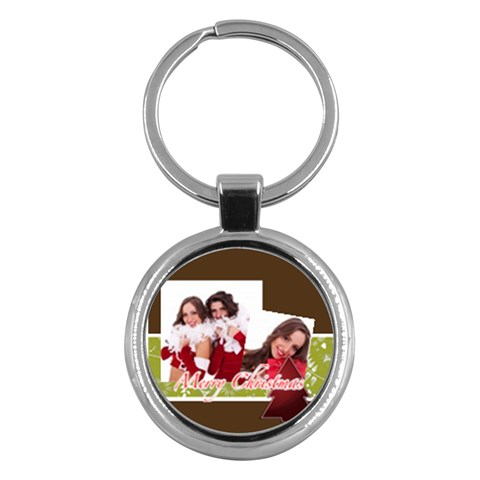 Merry Christmas By Angena Jolin   Key Chain (round)   0ubg3gytno4t   Www Artscow Com Front
