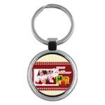 merry christmas - Key Chain (Round)