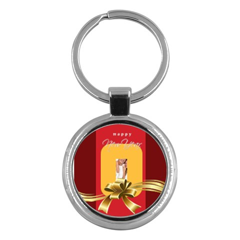 Merry Christmas By Angena Jolin   Key Chain (round)   Iiaotkgg0k5q   Www Artscow Com Front