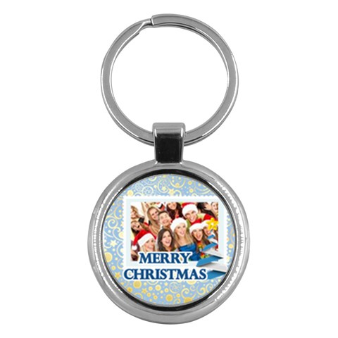 Merry Christmas By Angena Jolin   Key Chain (round)   L482422uxgjh   Www Artscow Com Front