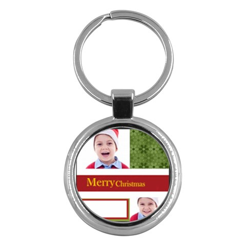 Merry Christmas By Clince   Key Chain (round)   Pd6at91cu5qz   Www Artscow Com Front