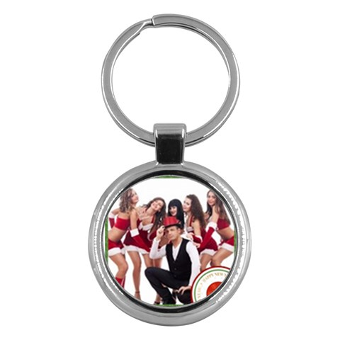 Merry Christmas By Clince   Key Chain (round)   N6som1wm0s24   Www Artscow Com Front