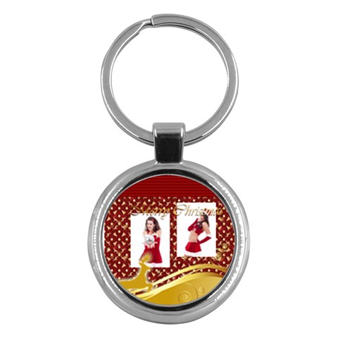 Merry Christmas By Clince   Key Chain (round)   Q1gkhkwtawdy   Www Artscow Com Front