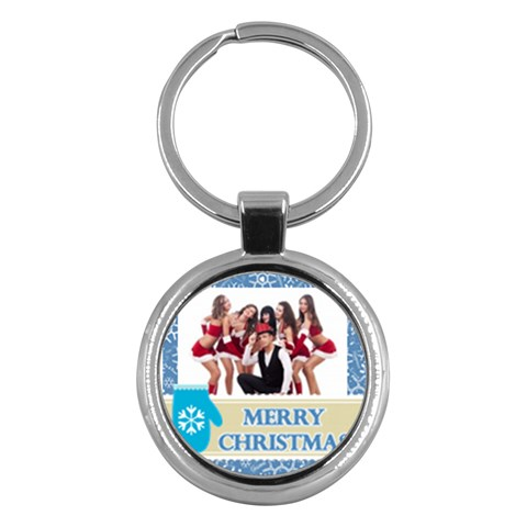 Merry Christmas By Clince   Key Chain (round)   Lje2i1iiwdkg   Www Artscow Com Front
