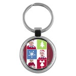 merry christmas - Key Chain (Round)