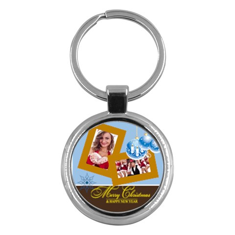 Merry Christmas By Clince   Key Chain (round)   7o7ibwupiq65   Www Artscow Com Front