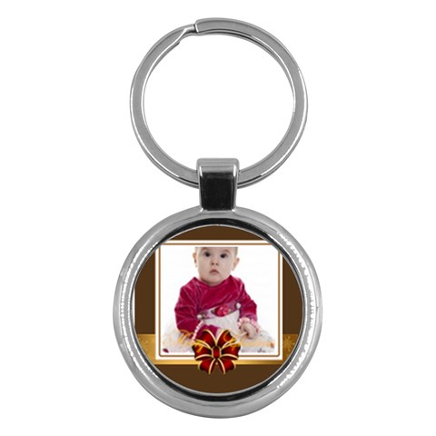 Merry Christmas By Clince   Key Chain (round)   5txzii9anzy7   Www Artscow Com Front