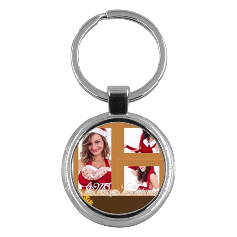 Merry Christmas By Clince   Key Chain (round)   Nw6rowvq4j35   Www Artscow Com Front