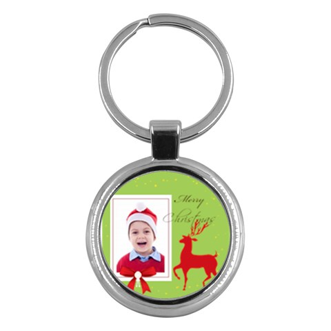 Merry Christmas By Clince   Key Chain (round)   Emggk5xw6fm6   Www Artscow Com Front