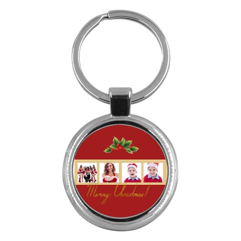 Merry Christmas By Clince   Key Chain (round)   3lqurwh3let3   Www Artscow Com Front