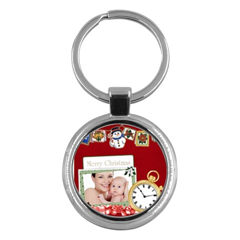 Merry Christmas By Jo Jo   Key Chain (round)   K2h6ga97sgl5   Www Artscow Com Front