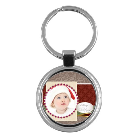 Merry Christmas By Jo Jo   Key Chain (round)   53x6dqlh8r6p   Www Artscow Com Front