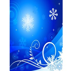Blue Swirl Christmas Card 4 5 X 7 By Kim Blair   Greeting Card 4 5  X 6    Mjhxcgz7oe3e   Www Artscow Com Back Cover