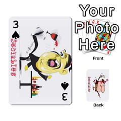Cards By Lesley   Playing Cards 54 Designs   K6ty4l1lahjb   Www Artscow Com Front - Spade3