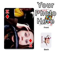 King Cards By Lesley   Playing Cards 54 Designs   K6ty4l1lahjb   Www Artscow Com Front - DiamondK