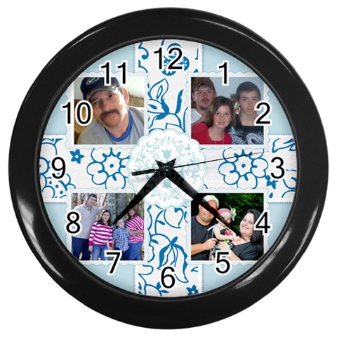 Daddy Clock By Becky   Wall Clock (black)   Nfp26q5ey2ty   Www Artscow Com Front