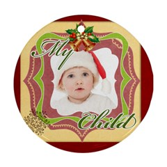 Merry Christmas By Betty   Round Ornament (two Sides)   Ws3pkxx4g5py   Www Artscow Com Back