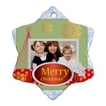 merry christmas - Ornament (Snowflake)