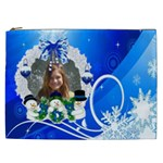 Blue winter swirl and  Cosmetic bag (XXL)
