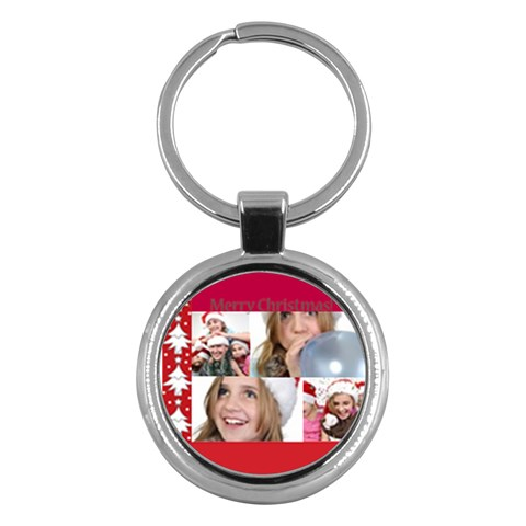 Merry Christmas By M Jan   Key Chain (round)   Bs6s2tih091i   Www Artscow Com Front