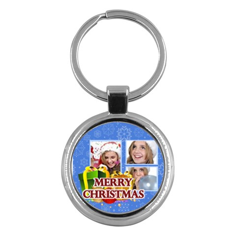 Merry Christmas By M Jan   Key Chain (round)   Tjwvzu0nsso9   Www Artscow Com Front