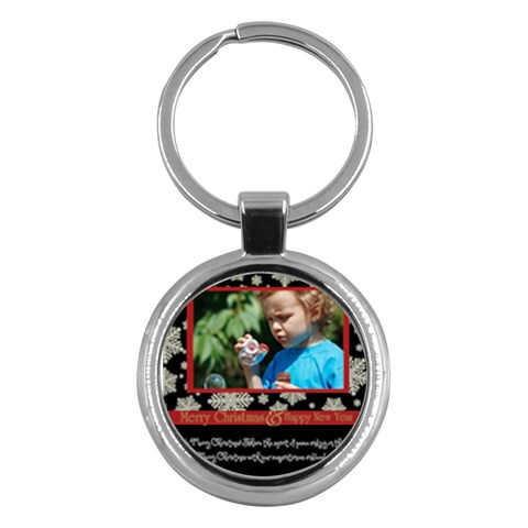 Merry Christmas By M Jan   Key Chain (round)   Okydn2gw3yaw   Www Artscow Com Front