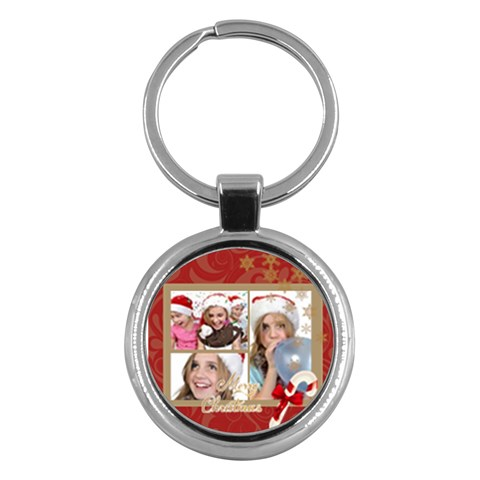 Merry Christmas By M Jan   Key Chain (round)   L8dxpzz051hp   Www Artscow Com Front