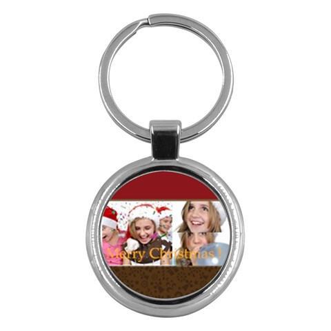 Merry Christmas By M Jan   Key Chain (round)   2mmcuvjl6ocf   Www Artscow Com Front