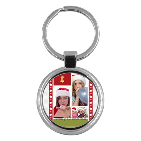 Merry Christmas By M Jan   Key Chain (round)   3e9b5q981jrt   Www Artscow Com Front