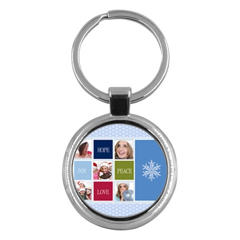 Merry Christmas By M Jan   Key Chain (round)   Vd1b4i0n6jdh   Www Artscow Com Front