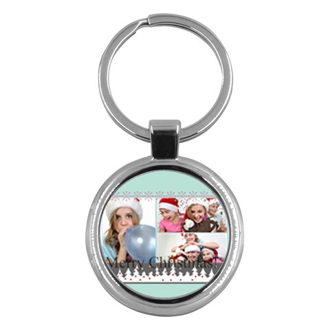 Merry Christmas By M Jan   Key Chain (round)   Qajjpw1e1zpl   Www Artscow Com Front
