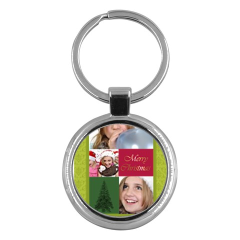 Merry Christmas By M Jan   Key Chain (round)   B29q6x42eoze   Www Artscow Com Front