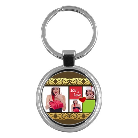Merry Christmas By M Jan   Key Chain (round)   27mi7sfm7aav   Www Artscow Com Front