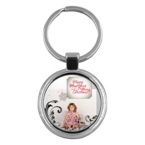 Merry Christmas By M Jan   Key Chain (round)   6i07qyaq7y7r   Www Artscow Com Front