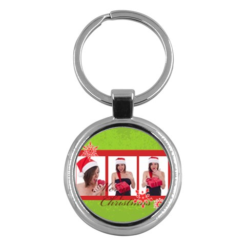 Merry Christmas By M Jan   Key Chain (round)   K714mf42dmkk   Www Artscow Com Front