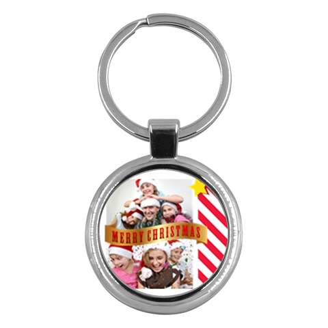 Merry Christmas By M Jan   Key Chain (round)   X9q2ez6vcrke   Www Artscow Com Front