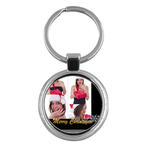 Merry Christmas By M Jan   Key Chain (round)   4ve60k4xeiew   Www Artscow Com Front