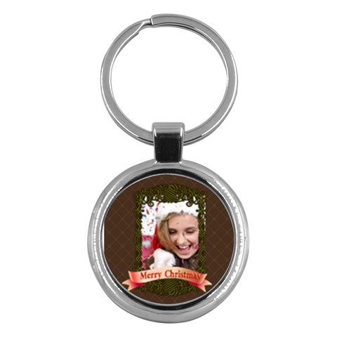Merry Christmas By M Jan   Key Chain (round)   8dgdjwcwzut0   Www Artscow Com Front