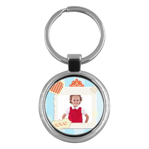 Merry Christmas By M Jan   Key Chain (round)   Odz8c3dmmv00   Www Artscow Com Front