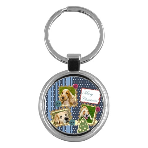 Merry Christmas By M Jan   Key Chain (round)   Lpjeew42v9ad   Www Artscow Com Front