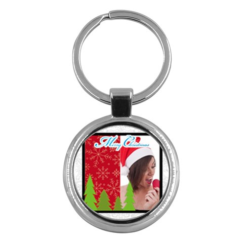 Merry Christmas By M Jan   Key Chain (round)   3m1jalxvlpyn   Www Artscow Com Front