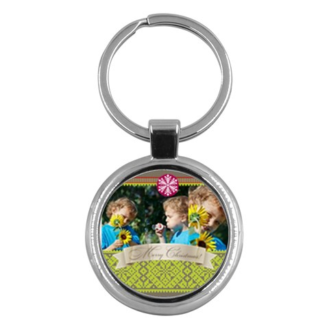 Merry Christmas By M Jan   Key Chain (round)   Bhdvog63g98r   Www Artscow Com Front