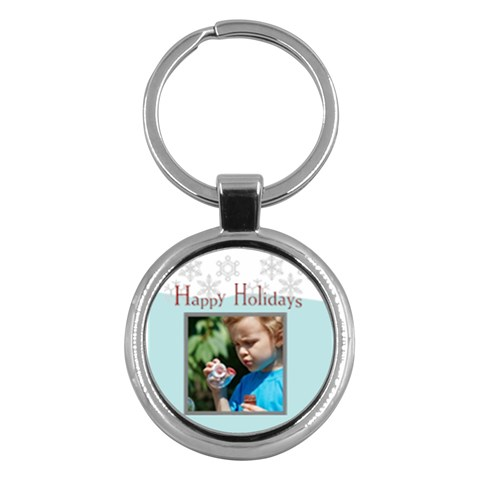 Merry Christmas By M Jan   Key Chain (round)   5l5lnjtg5p5a   Www Artscow Com Front