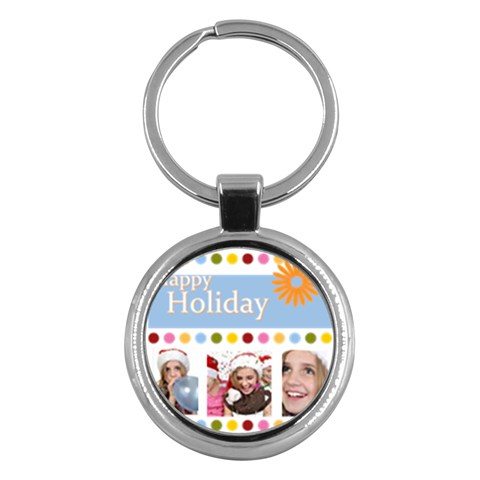 Merry Christmas By M Jan   Key Chain (round)   G8mxaltcw9ky   Www Artscow Com Front