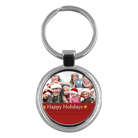 Merry Christmas By M Jan   Key Chain (round)   Dvum75dn4cc8   Www Artscow Com Front