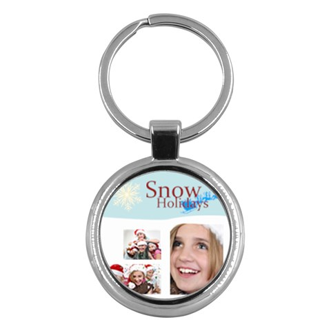 Merry Christmas By M Jan   Key Chain (round)   Jftlvgoi11wz   Www Artscow Com Front