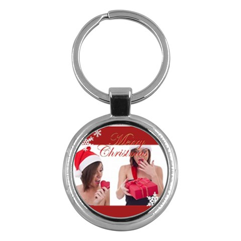 Merry Christmas By M Jan   Key Chain (round)   8l99f8p2i484   Www Artscow Com Front