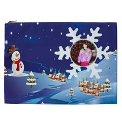 Winter Night Cosmetic Bag (xxl) By Kim Blair   Cosmetic Bag (xxl)   Llozmaz3mwft   Www Artscow Com Front